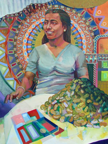 Life and the Imagination: Mandala Queen and Pile of Peanuts