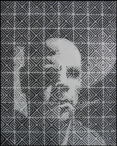 Self portrait in pattern