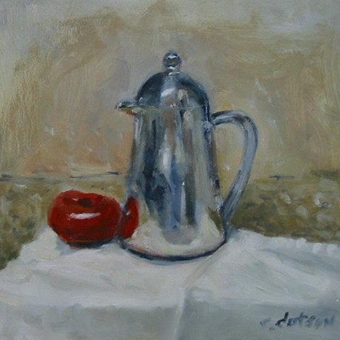Coffee press with tomato