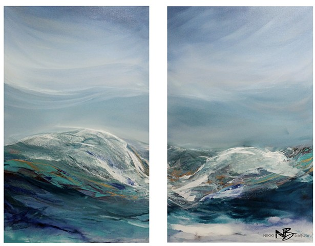 Maui Inspired Collection (Diptych) - SOLD at Art Walk