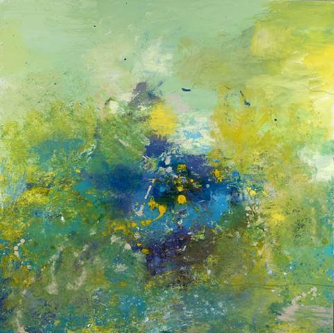 """Seascape Acrylic on Canvas 48""""x48"""""""