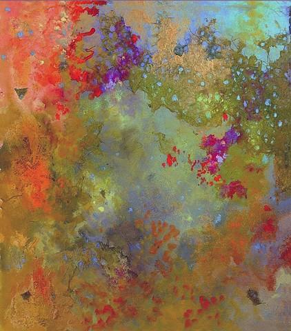 Nebula Mixed Media on Canvas 25'' x 22''