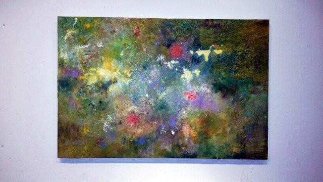 """Giverny"", 2015 Acrylic on Canvas Courtesy of Roberta Zlokower"