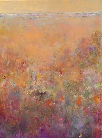 """""""Autumn Field"""" Mixed Media on Canvas 40""""x30"""""""
