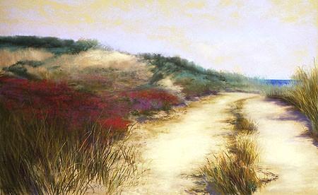 """Dunes, Ocean View Pastel 30"""" x 44"""""""