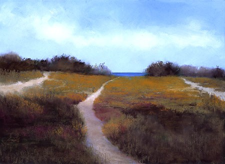 "Beach Paths Pastel 22"" x  30"""