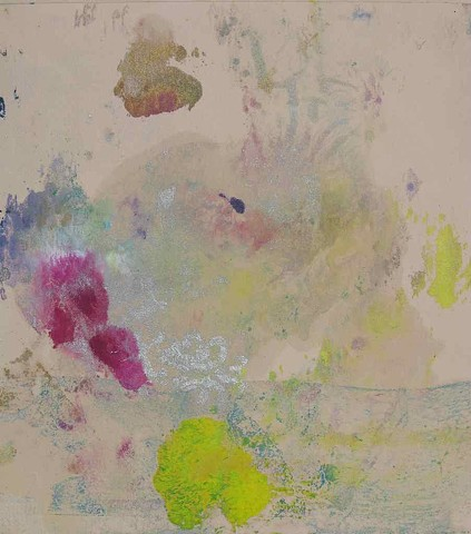 Hummingbird Monoprint 12'' x 11''