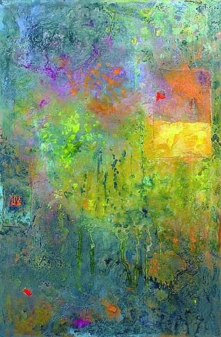 Pentimento I Mixed Media on Canvas 29'' x 18''