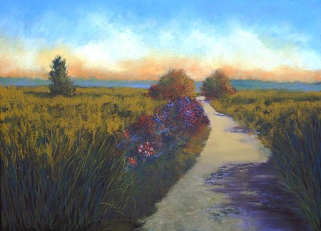 "Path and Shadows Pastel 25"" x 34"""