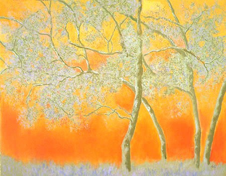 "Spring Trees Pastel 30"" x 38"""