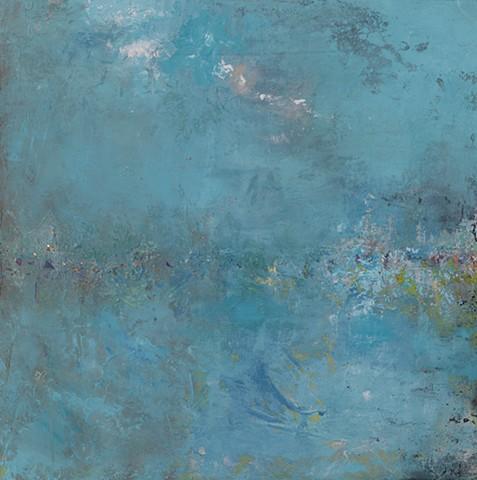 "Venetian Landscape Acrylic on Canvas 24""x24"""