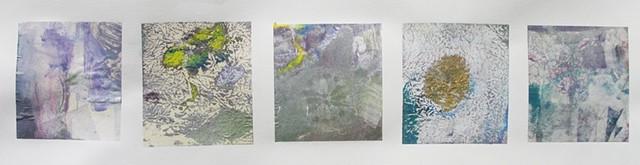 Cinque Monoprint 4'' x 21''