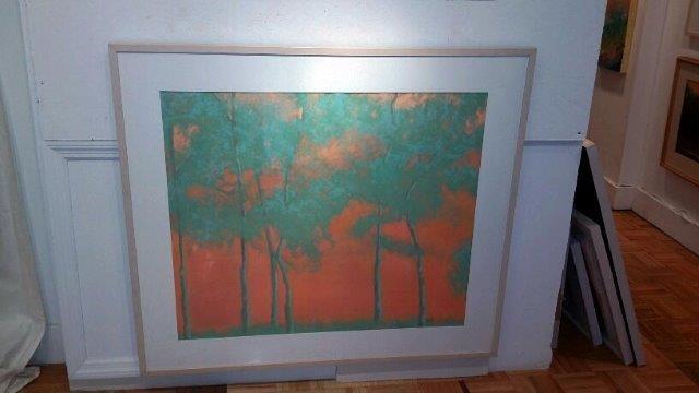 """Tango Trees"", 2013 Pastel Courtesy of Roberta Zlokower"