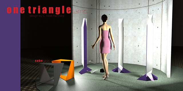 one triangle floor lamp promo poster