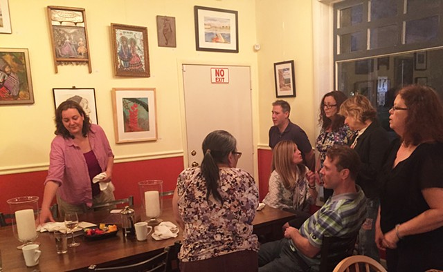 ILLUSTRATOR DINNER  Illustrator:  Patricia Keeler  So much talent around one table