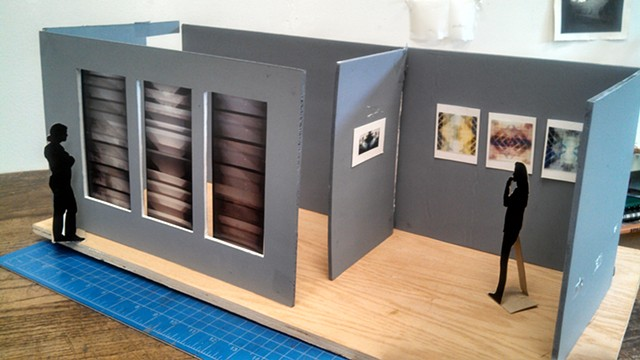 Mock-up model of installation with video projection