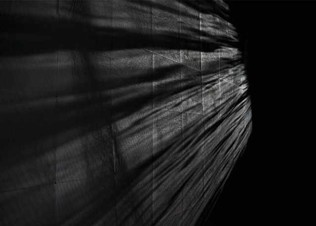 wax paper, video projection, installation
