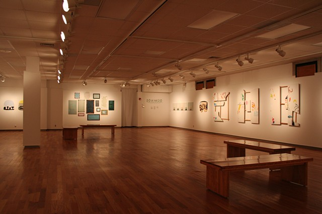 Installation view of Flirt with Space, University of Central Missouri