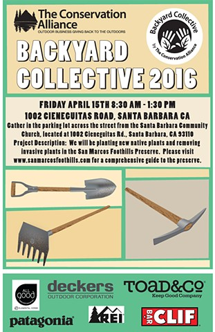 The Conservation Alliance/Backyard Collective flyer.