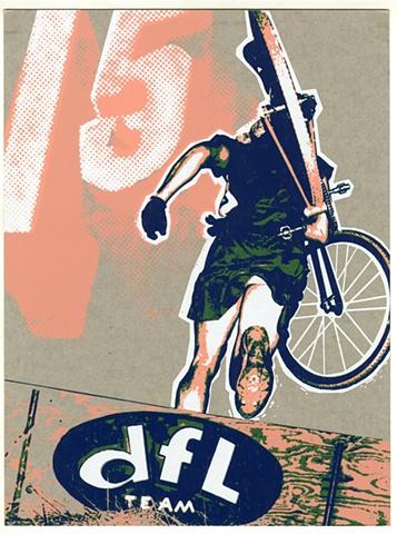 DFL 15th Anniversary poster for Artcrank SF - 4 color screen print
