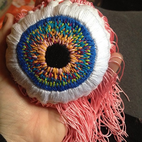 A Nice Eyeball Pillow in my hand