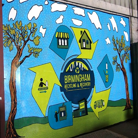 Birmingham Recycling & Recovery mural