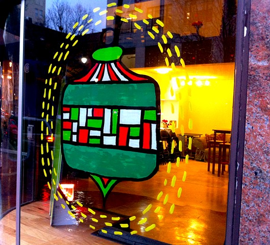 Holiday window for Whiteboard Inc.