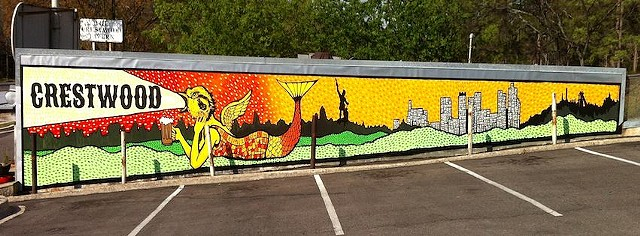 Shoppes of Crestwood mural
