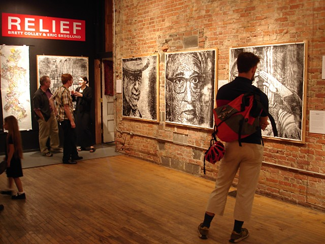 Apocalyptic Apparitions, installed at Zeitgeist Gallery, Detroit