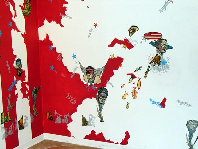 Dissent, mural in progress