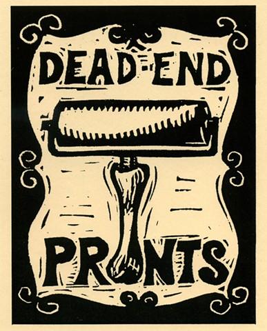 Dead End II announcement card (designed hand-printed by Alynn Guerra)