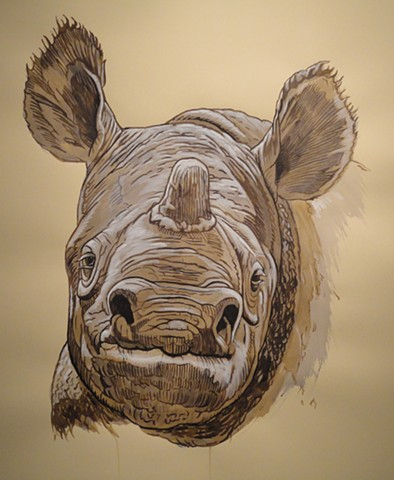 Javan Rhinoceros (from the Apologies to the Future series)
