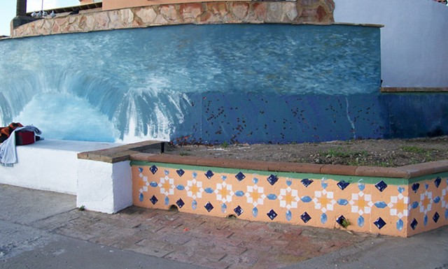 Coastal Mural in progress 2 d