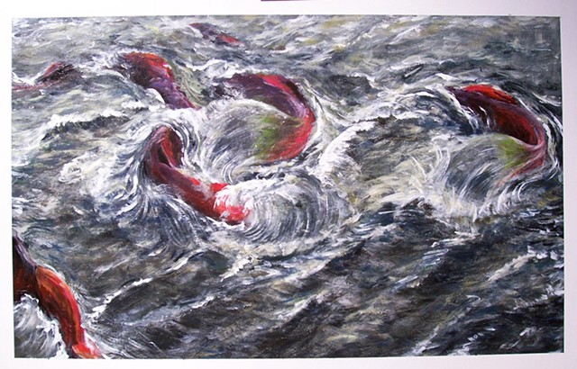 David Phillips Art, DavidPhillipsArt.com, Salmon