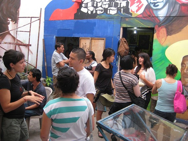 Meet & Greet with muralists and filmmakers in Estelí.