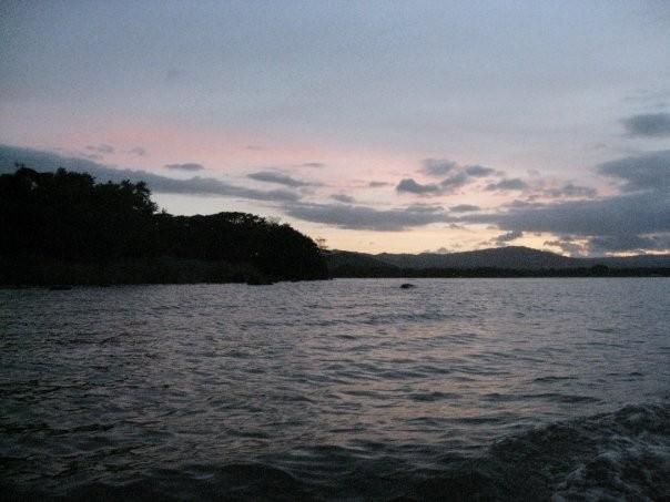 Lake Nicaragua during sunset.