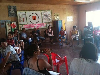 Adolescent & Youth Center meeting to plan large community projects in San Juan de Limay.