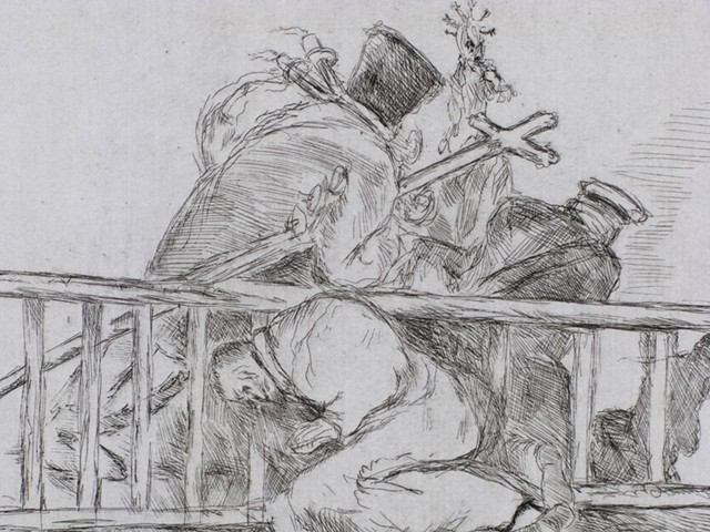 WALTER WILSON after Francisco Goya - DETAIL