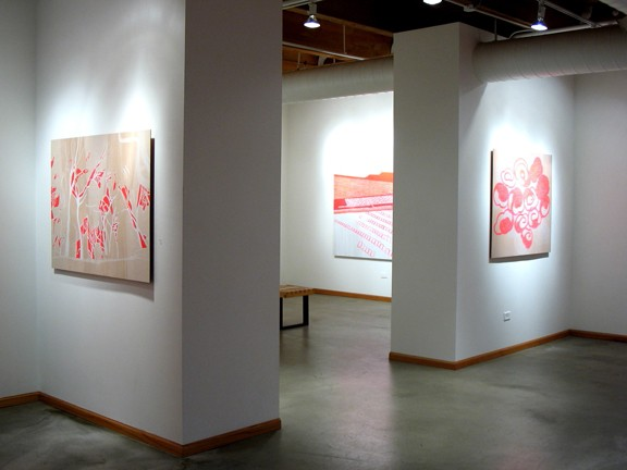 See Through Installation View -- CPT1, Clouds and Backdrop