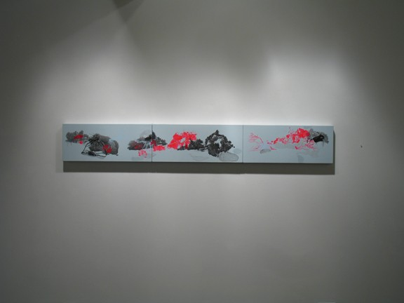 Clearing Installation View 11 (Clearing 4, triptych)