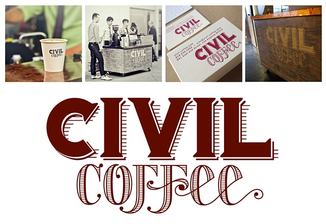 Civil Coffee, Espresso & Coffee for Events, LA California Coffee, Tony Forte Logo Civil Coffee Design, TFVC, TForte Visual, 941 E. 2nd Street Los Angeles, Ca 90021, Hand brewed goodness brought to you...
