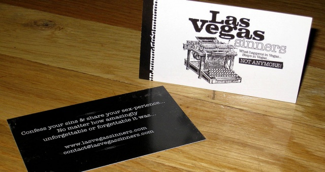 Custom Business Card Design: LasVegas Sinners