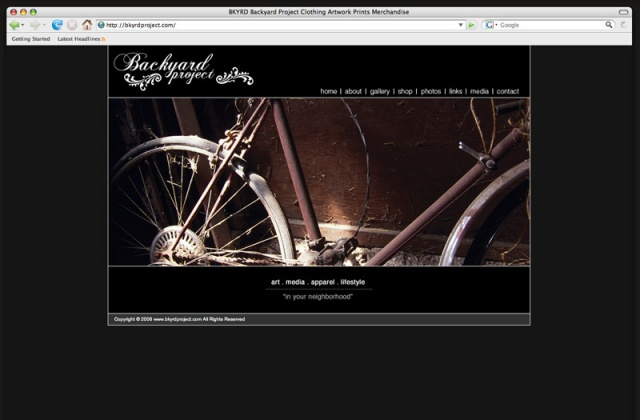 Backyard Project NEW web interface