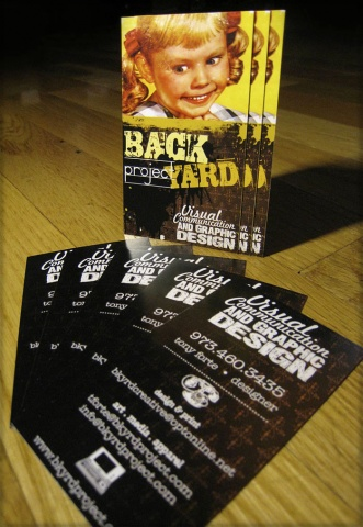 Custom Business Card Design: Backyard Project