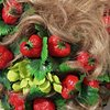 Curls with Strawberries and Zinnias