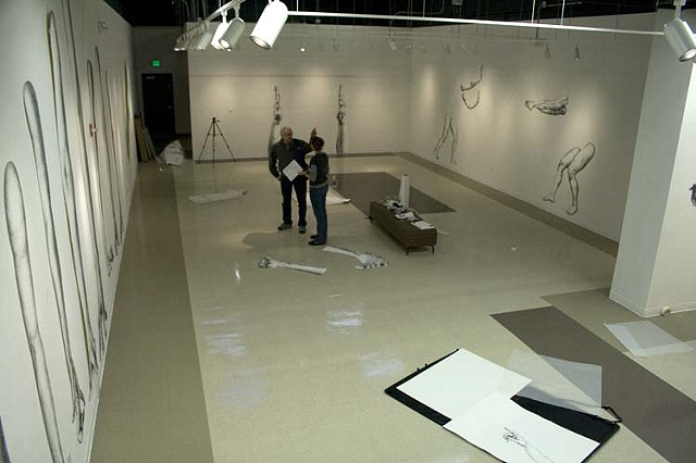 Aerial view of show installation