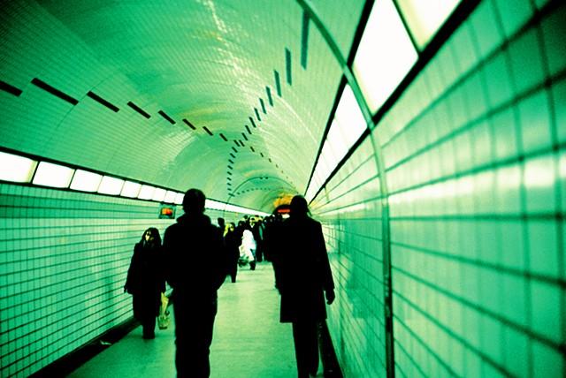 Chicago, EL train , tunnel