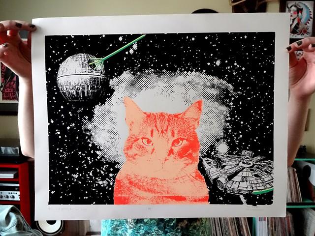 Star Wars, Screenprint, Cat