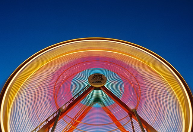 Night, carnival, Ferris Wheel, Amusement