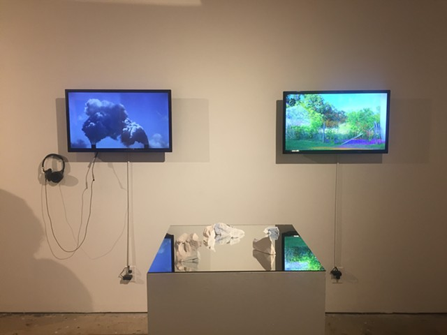 The Wilderness, installation view (on right)